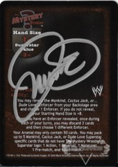 The Mystery Wrestler Superstar Card - Signed by Mick Foley